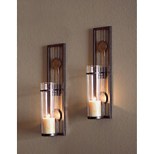 Wall Sconces for Candles Set of 2 Candle Holders Contemporary Home Decor New