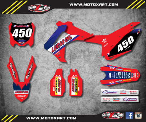 Custom Graphics Full Kit for Honda CRF 450 2013-2016 ACTIVE STYLE Stickers