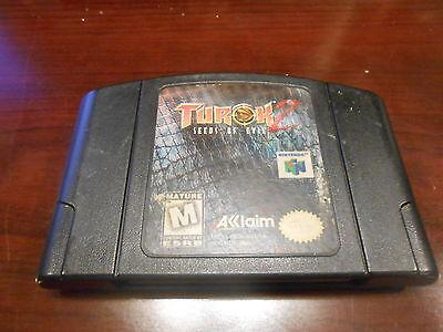 +++ TUROK 2 SEEDS OF EVIL Nintendo 64 N64 Game Cart BLACK +++