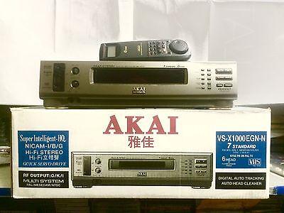 VIDEOREGISTRATORE  VHS Akai VS-x1000  6 testine Hi-Fi Multistandard