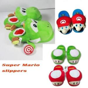 f6fd789f013 Cute Lovely Gifts Home Warm Super Mario plush slippers Yoshi M-Mr ...