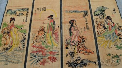 China calligraphy Paintings Scrolls Chinese Painting SCROLL FOUR SCREEN
