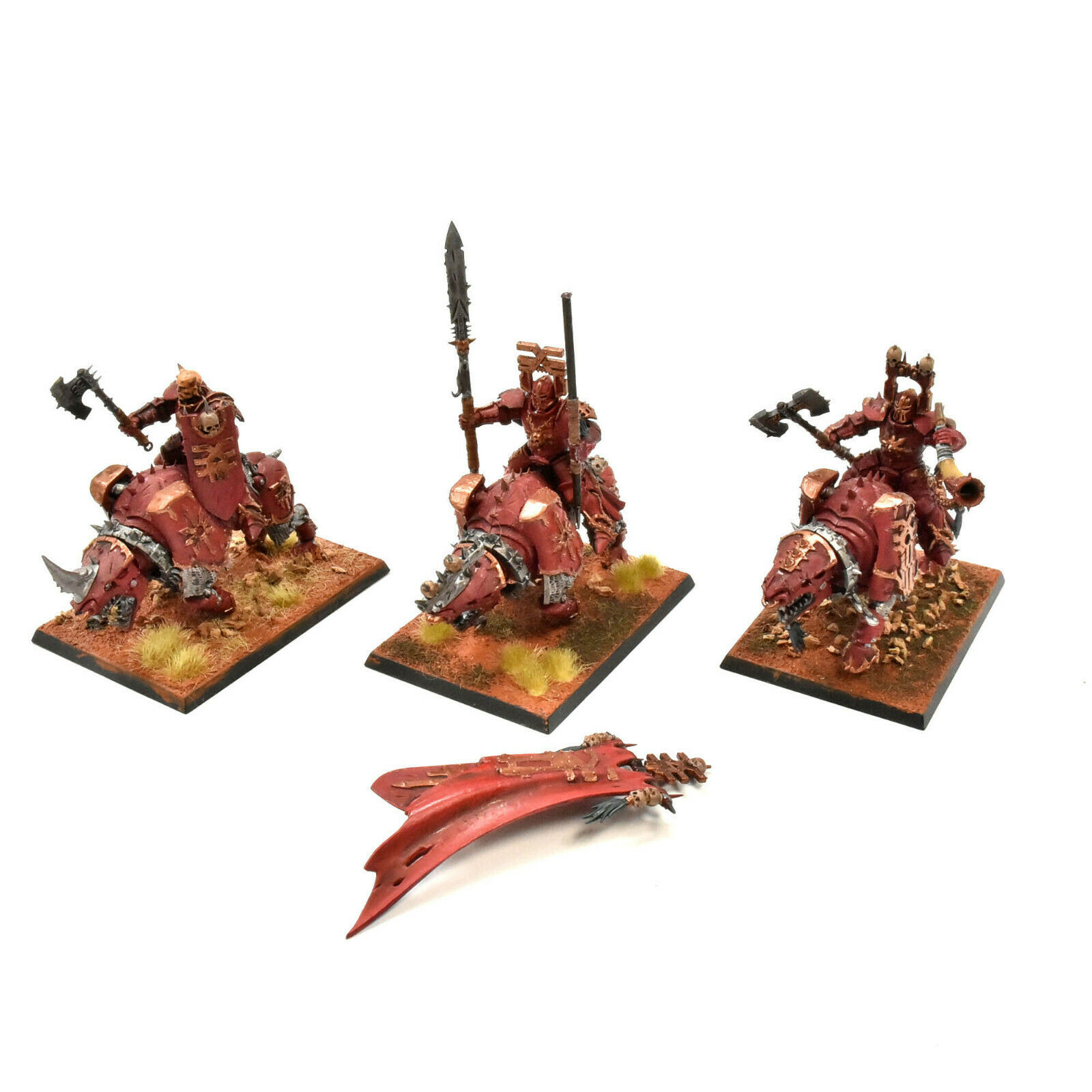 KHORNE BLOODBOUND 3 mäktiga kranskärlsskorpor\\DAR35;2 Warhammer Sigmar PAINTED