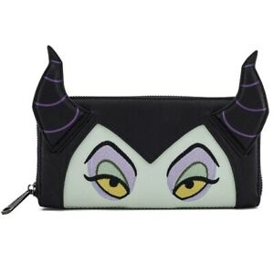 Loungefly-Wallet-Disney-Maleficent-Rectangle-Zip-Wallet-Black-Purple