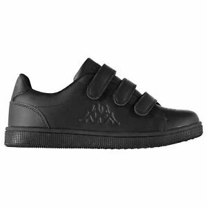 Details about Kappa Kids Boys Maresas DLX Junior Trainers Court Hook and Loop Leather Upper