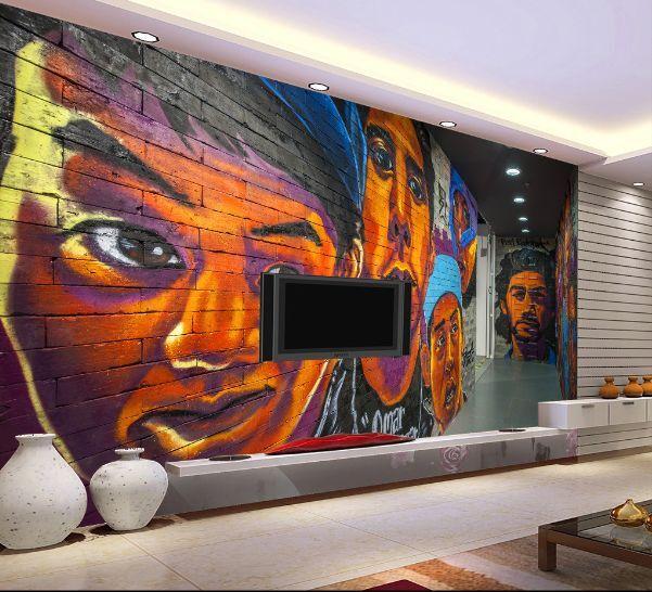 3D 3D 3D Graffiti 33  Parete Murale Foto Carta da parati immagine sfondo muro stampa cc0897