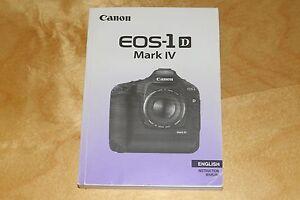 canon eos 1d mark iv instruction manual english eos 1d mk4 ebay rh ebay co uk canon eos-1d c review canon eos 1d mark 3 manual