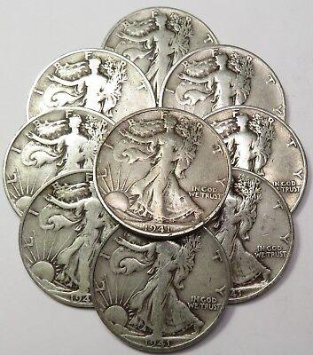 "1939-D /""SET BUILDER/"" Silver Walking Liberty 50c Half Dollar US Coin #18465"