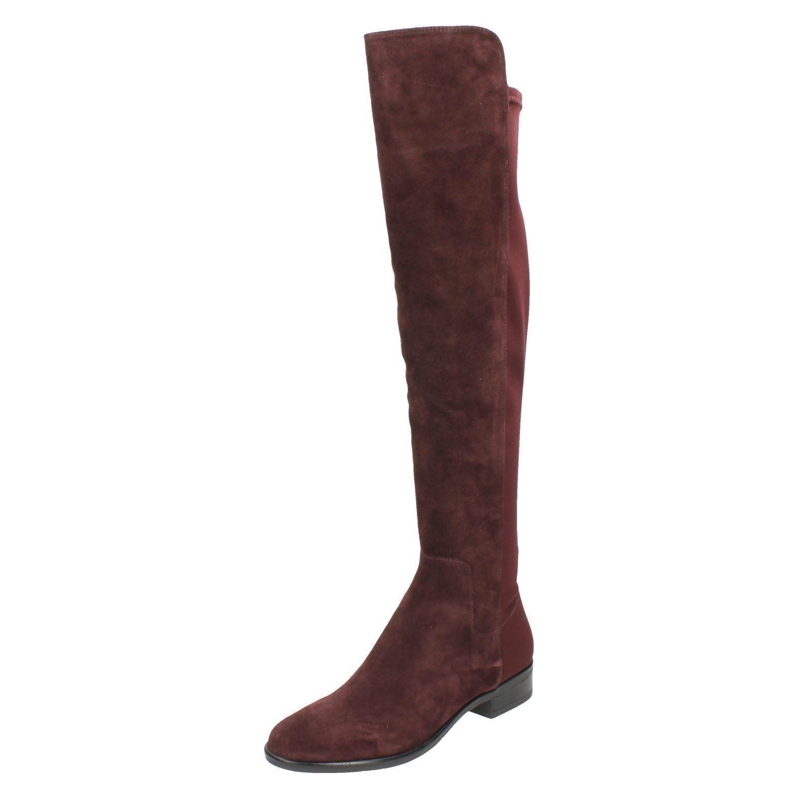 Caddy belle belle belle femme clarks cuir daim hautes à enfiler talon bas bottes cavalières | Technologie Sophistiquée  0c76c1