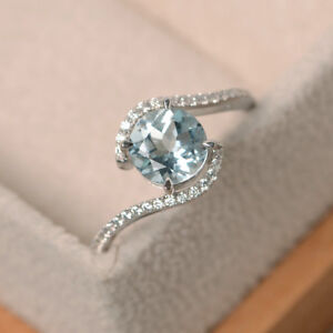 14K-Hallmarked-White-Gold-Natural-Diamond-Aquamarine-1-65Ct-Engagement-Ring-K