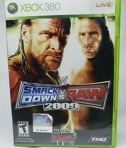 WWE-SmackDown-vs-RAW-2009-for-Microsoft-Xbox-360-Live-Complete-And-Tested-CIB