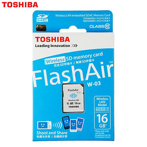 TOSHIBA-16GB-Wi-Fi-Scheda-di-memoria-SD-FlashAir-Wireless-LAN-SDHC-classe-10