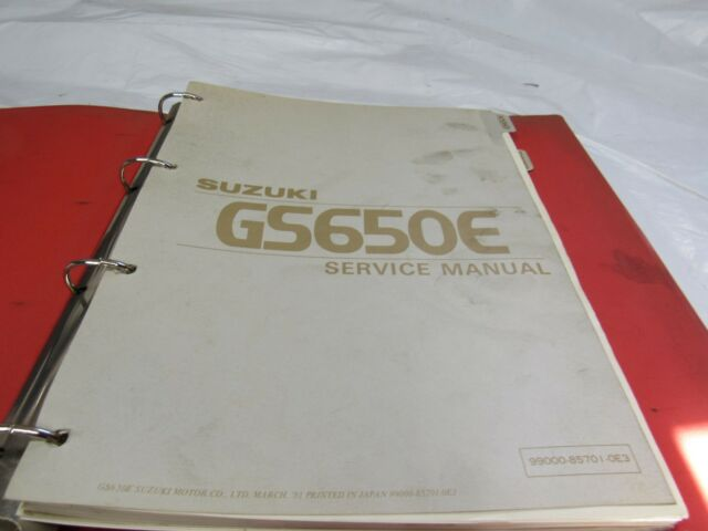 1982 suzuki gs650l repair manual