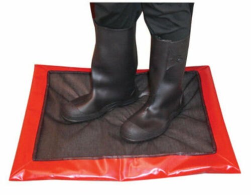 "AGRI-PRO DISINFECTION MAT 24 x 28/"" Entrance Mat Disinfect Footwear Red"
