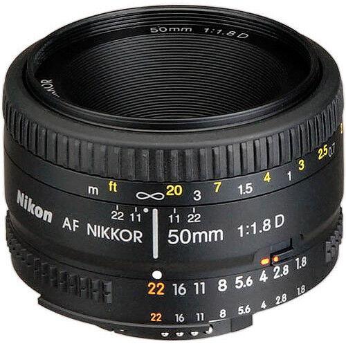 Nikon AF NIKKOR 50mm f/1.8D Objetivo con Garantía Enfoque automático