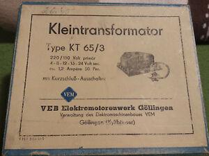 Ddr Trafo Kleintransformator Kt 65 3 Veb Gollingen 25va Ebay