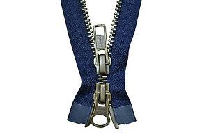 YKK-Reissverschluss-2-Wege-teilbar-5mm-marineblau-95-cm-Metall-Metallzaehne