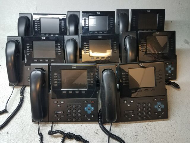 Lot of 10 Cisco CP-8961-C-K9 Unified IP Phone w//Stand and Handset