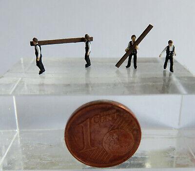 Obbiettivo (z01) Carpentieri/zimmermann Personaggi Traccia Scale Gauge Z (1:220)-mostra Il Titolo Originale