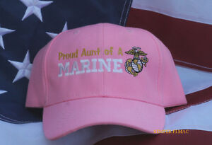 PROUD COUSIN OF A US MARINE HAT CAP MOM DAD NIECE AUNT UNCLE NEPHEW PIN UP WOWMH