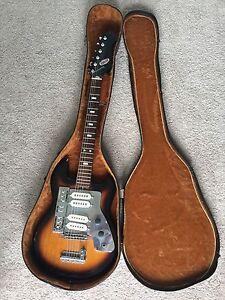 vintage rare tulio electric guitar japan teisco kawai silvertone 4 pickups ebay. Black Bedroom Furniture Sets. Home Design Ideas