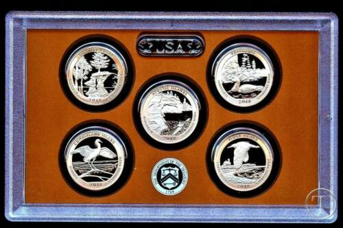 FIVE COINS IN STOCK 2012 S Clad Proof Quarter Set with Box//COA