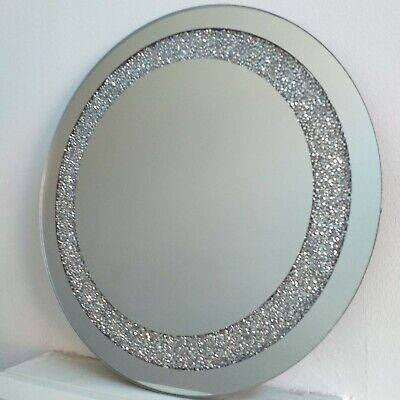 Crushed Diamond Crystal Candle Plate 30cm
