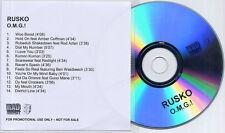 RUSKO O.M.G.! 2010 UK 14-track promo test CD Ben Westbeech