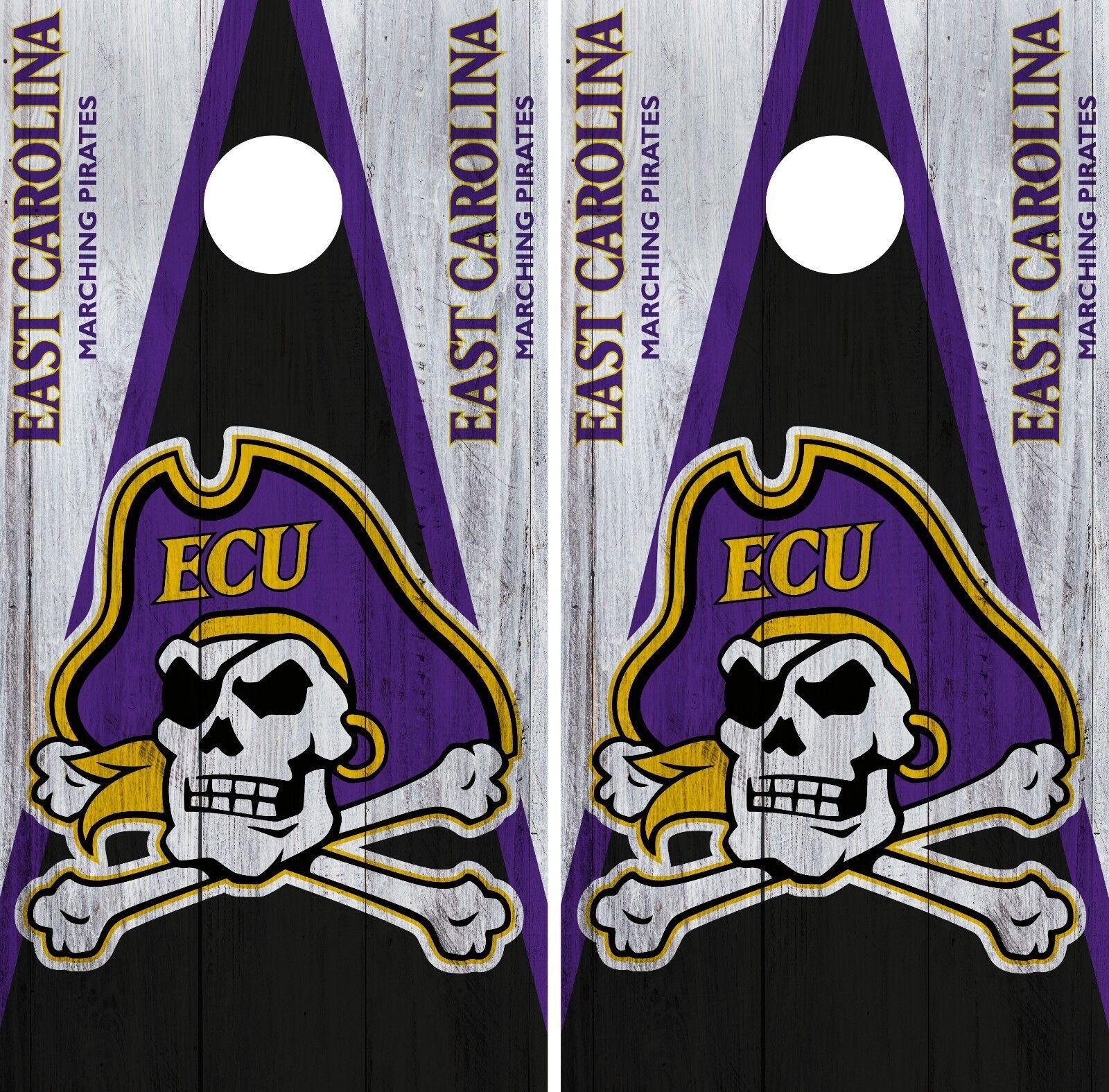 East Carolina  Pirates Cornhole Wrap NCAA Game Board Skin Vinyl Decal Set CO765  fitness retailer