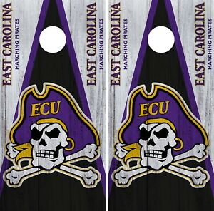 cheap for discount 04a2b 7342e Image is loading East-Carolina-Pirates-Cornhole-Wrap-NCAA-Game-Board-