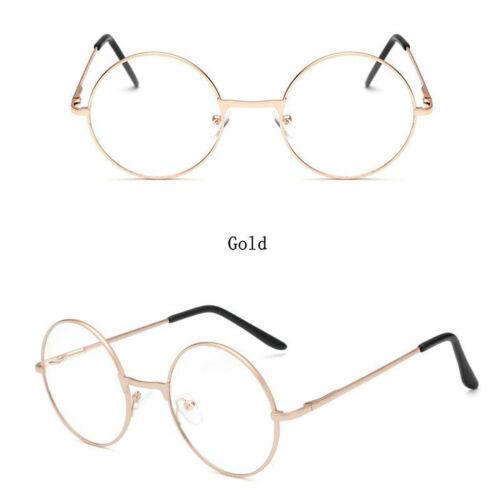 Vintage Unisex Metal Frame Clear Runde Linse Gläser Nerd Brille Brille Glasses