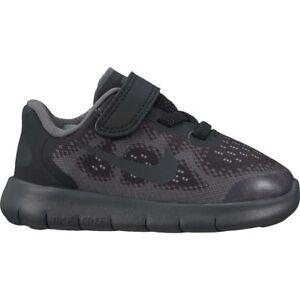 28f2464880accf Boys  Nike Free RN 2017 (TD) Toddler Shoe Black Anthracite-dark grey ...