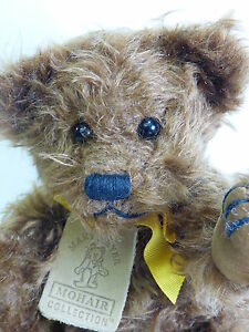 Mary-Meyers-MOHAIR-COLLECTION-Fully-Jointed-Teddy-Bear-W-Box-DARK-BROWN-COLBY-2