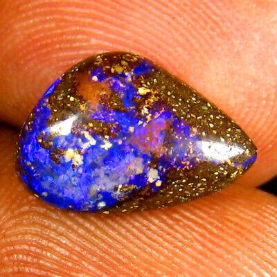 9.18 ct Topnotch Fancy Shape Multi Color Australian Koroit Boulder Opal Natural Loose Gemstone 20 x 12 mm