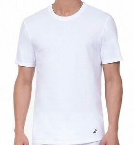 4a583b641 Details about New Nautica Men s 3 Pack Crew Neck T-Shirt Black and White  All Sizes
