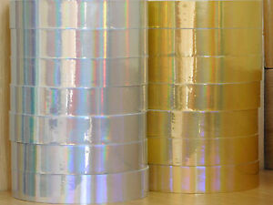 Holograpic-Hoop-Tape-Iridescent-Rainbow-Self-Adhesive-20mm-x-10m-Lures