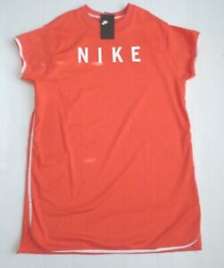 Nike Women Sportswear Mesh Dress   893677   Orange White 816   Size S   Nwt by Nike