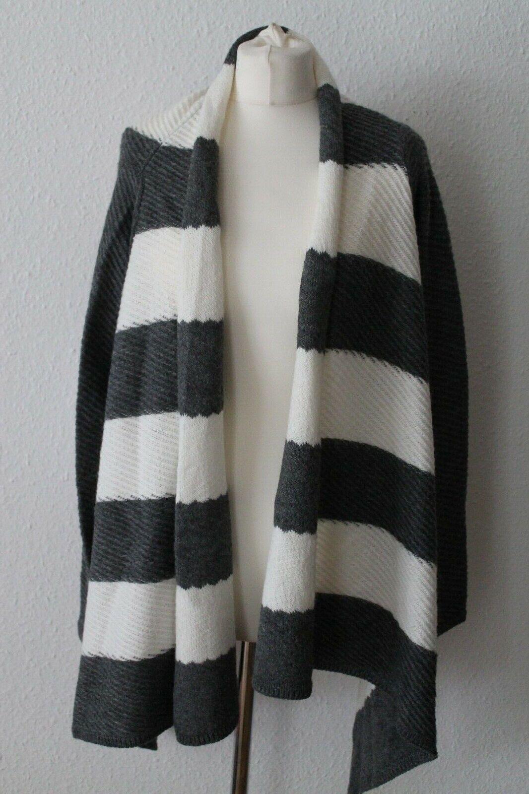 Maria Kretschmer Poncho Cardigan Weste impression Heine Luxus Gr.44 46 Grau weiß | Sale Online Shop