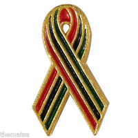 African American Aids Awareness Lapel Pin National Black Hiv Aids Day