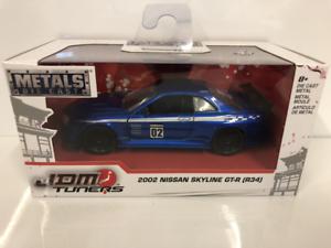 Nissan-Skyline-Gt-R-R34-2002-Bleu-1-3-2-Echelle-Jada-99138