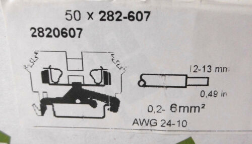 50x WAGO Durchgangsklemme Reihenklemme 282-6070,2-6mm² Neu in OVP