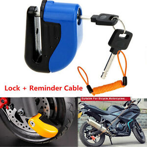 1.5M Motorcycle Anti Thief Alarm Wheel Brake Disc Lock Reminder Cable Lanyard