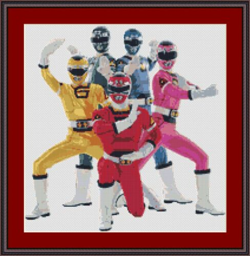 POWER Rangers Punto Croce Kit