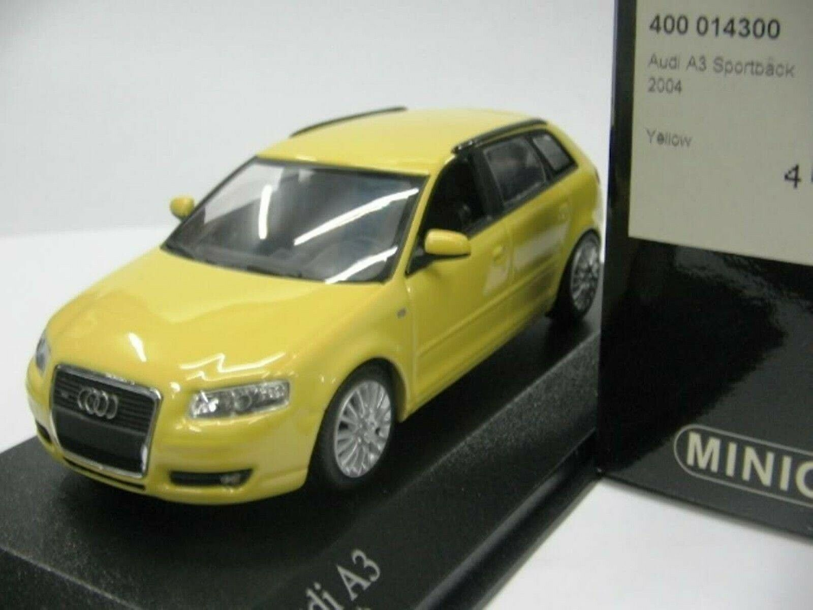 WOW EXTREMELY EXTREMELY EXTREMELY RARE Audi A3 8PA 5 Drs 3.2 VR6 Quattro Yellow 2004 1 43 Minichamps b1e2ad