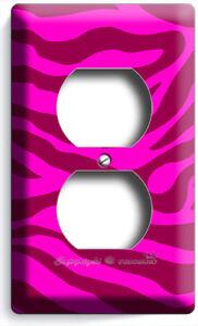 Details About Hot Pink Zebra Stripes Animal Prints Outlet Wall Plates Room Girls Bedroom Decor
