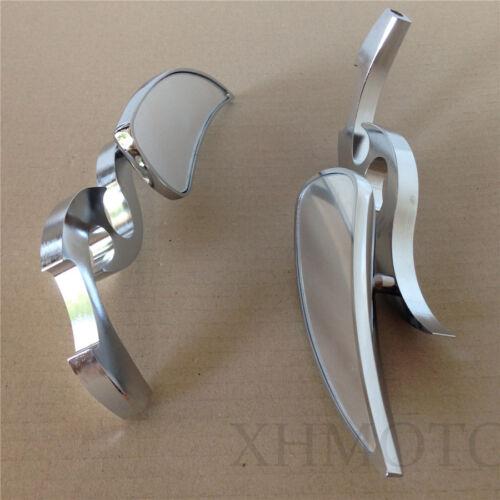 Chrome Custom Running Blade Mirror fit for SUZUKI GSXR600 750 1000 1100 Hayabusa