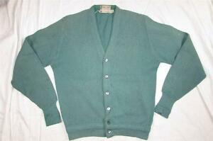 Vtg-60s-Towne-King-Wool-Cardigan-Sweater-Hollywood-VLV-Mod-Sz-Small-Nice