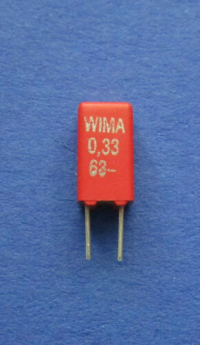 10 x 0,33µf//63v 10/% diapositives condensateurs Wima mks-02 RM 2,5 mm