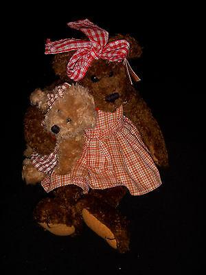 éXtasis Bearington Collection Teddy Bear - Sara - Style 1064 - Bear With Little Bear Euc Buena ReputacióN Sobre El Mundo