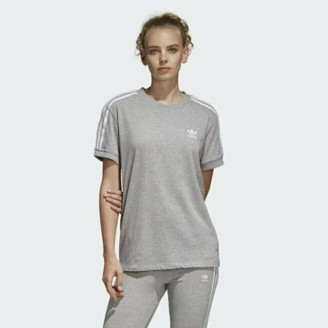 b93cadfd8a071 Women's adidas Originals 3 Stripes Trefoil Tee Shirt Large #cy4982 ...